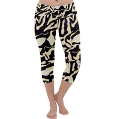 Luxury Animal Print Capri Yoga Leggings by tarastyle
