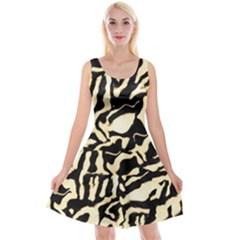 Luxury Animal Print Reversible Velvet Sleeveless Dress by tarastyle