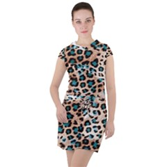 Luxury Animal Print Drawstring Hooded Dress by tarastyle