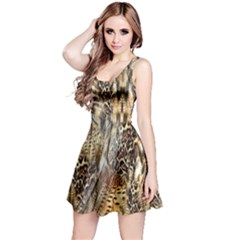 Luxury Animal Print Reversible Sleeveless Dress by tarastyle