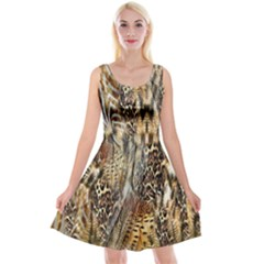 Luxury Animal Print Reversible Velvet Sleeveless Dress by tarastyle