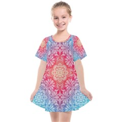 Colorful Mandala Kids  Smock Dress by tarastyle