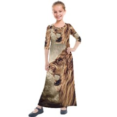 Roaring Lion Kids  Quarter Sleeve Maxi Dress by Sudhe