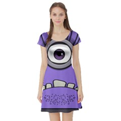Evil Purple Short Sleeve Skater Dress
