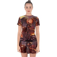 Fantasy Art Fire Heroes Heroes Of Might And Magic Heroes Of Might And Magic Vi Knights Magic Repost Drop Hem Mini Chiffon Dress by Sudhe