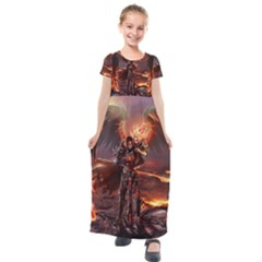 Fantasy Art Fire Heroes Heroes Of Might And Magic Heroes Of Might And Magic Vi Knights Magic Repost Kids  Short Sleeve Maxi Dress by Sudhe