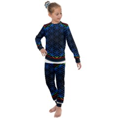 Flower Of Life Kids  Long Sleeve Set  by Sudhe