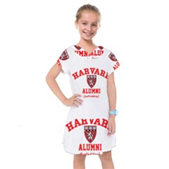 Harvard Alumni Just Kidding Kids  Drop Waist Dress by Sudhe