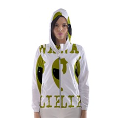 I Want To Believe Hooded Windbreaker (women) by Sudhe