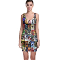 Comic Book Images Bodycon Dress