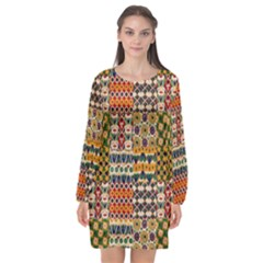 Ml 130 Long Sleeve Chiffon Shift Dress  by ArtworkByPatrick