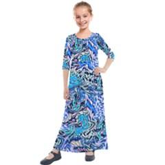 Ml 130 4 Kids  Quarter Sleeve Maxi Dress by ArtworkByPatrick