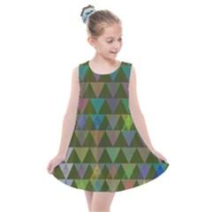 Zappwaits Triangles 2 Kids  Summer Dress by zappwaits