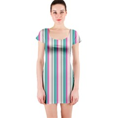 Candy Stripes 1 Short Sleeve Bodycon Dress