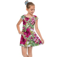 Red Flowers Kids  Cap Sleeve Dress by goljakoff