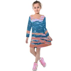 Blissful Kids  Long Sleeve Velvet Dress by arwwearableart