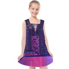 Architecture Home Skyscraper Kids  Cross Back Dress by Sudhe