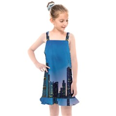 Frankfurt Germany Panorama City Kids  Overall Dress by Sudhe