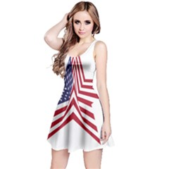 A Star With An American Flag Pattern Reversible Sleeveless Dress