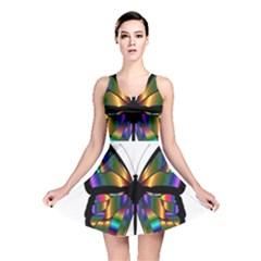 Abstract Animal Art Butterfly Reversible Skater Dress by Sudhe