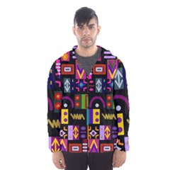 Abstract A Colorful Modern Illustration Hooded Windbreaker (men) by Sudhe