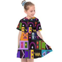 Abstract A Colorful Modern Illustration Kids  Sailor Dress by Sudhe