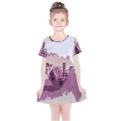 Abstract Painting Edinburgh Capital Of Scotland Kids  Simple Cotton Dress by Sudhe