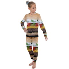 Abstract Barbeque Bbq Beauty Beef Kids  Long Sleeve Set  by Sudhe