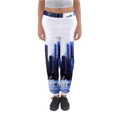 Abstract Of Downtown Chicago Effects Women s Jogger Sweatpants