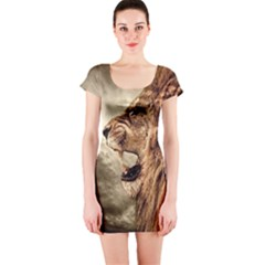 Roaring Lion Short Sleeve Bodycon Dress