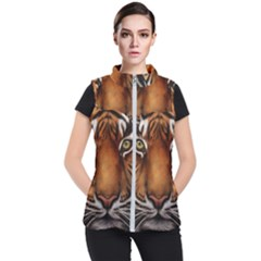 The Tiger Face Women s Puffer Vest by Sudhe