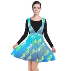 Animal Nature Cartoon Wild Wildlife Wild Life Plunge Pinafore Dress by Sudhe