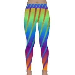 Abstract Fractal Multicolored Background Classic Yoga Leggings