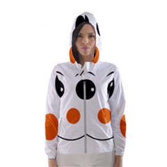 Happy Face With Orange Nose Vector File Hooded Windbreaker (women) by Sudhe