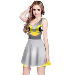 Cute Penguin Animal Reversible Sleeveless Dress