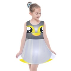 Cute Penguin Animal Kids  Summer Dress by Sudhe