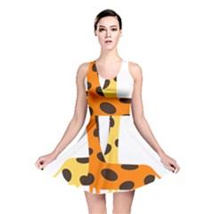 Giraffe Africa Safari Wildlife Reversible Skater Dress