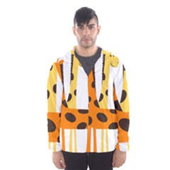Giraffe Africa Safari Wildlife Hooded Windbreaker (men) by Sudhe