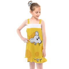 Rat Mouse Cheese Animal Mammal Kids  Overall Dress by Sudhe