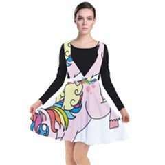 Unicorn Arociris Raimbow Magic Plunge Pinafore Dress by Sudhe