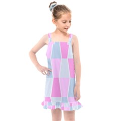 Geometric Pattern Design Pastels Kids  Overall Dress by Sudhe