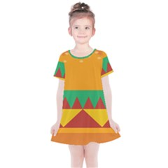 Burger Bread Food Cheese Vegetable Kids  Simple Cotton Dress by Sudhe