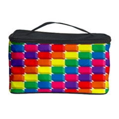 Rainbow 3d Cubes Red Orange Cosmetic Storage by Sudhe