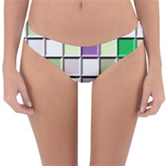 Color Tiles Abstract Mosaic Background Reversible Hipster Bikini Bottoms by Sudhe