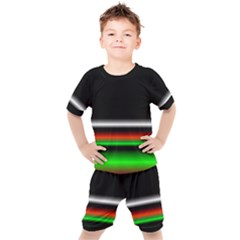 Colorful Neon Background Images Kids  Tee And Shorts Set by Sudhe