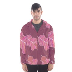 Plumelet Pen Ethnic Elegant Hippie Hooded Windbreaker (men) by Sudhe