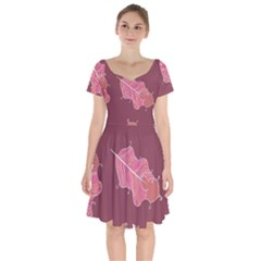 Plumelet Pen Ethnic Elegant Hippie Short Sleeve Bardot Dress by Sudhe
