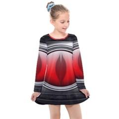 Red Eye Kids  Long Sleeve Dress by Sudhe