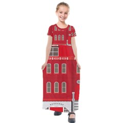 Red House Kids  Short Sleeve Maxi Dress by Sudhe