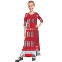 Red House Kids  Quarter Sleeve Maxi Dress by Sudhe